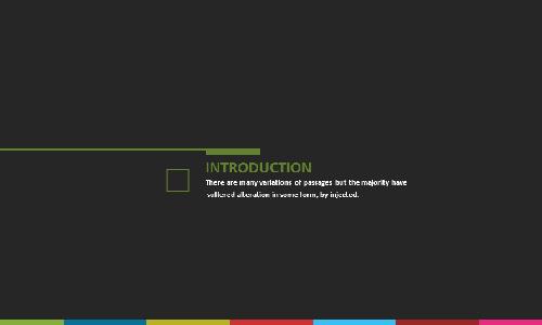 150页扁平化欧美风格商务模板
